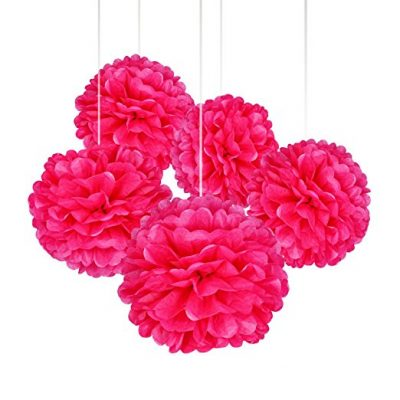 15 Pcs Pink Color Tissue Paper Pom Poms Flower Balls